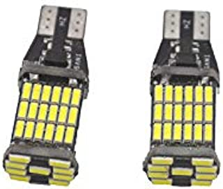 2Pcs T15 W16W 921 912 Super Bright 1200Lm 3030 SMD LED Car Backup Reserve Lights Tail Lamp White Parking Bulbs Turn Side Lamps (45 SMD)
