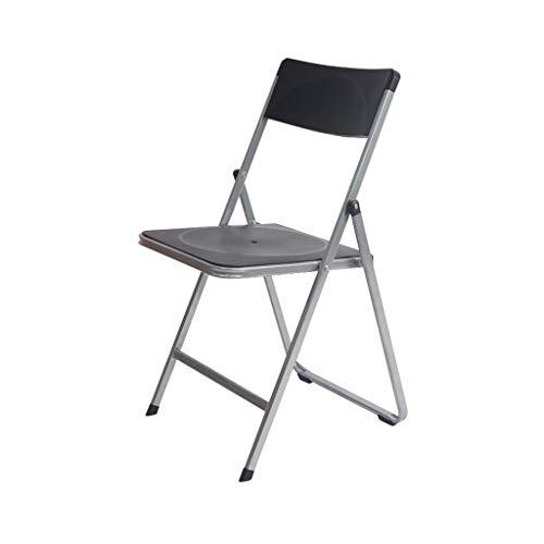 QYYCzdy Chaise Pliante épaissir Bureau réception Personnel Formation Chaise Chaise d'ordinateur en Plastique Noir