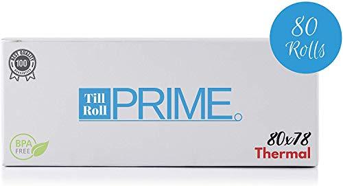 80 rotoli di carta termica per ricevute, 80 x 78, 80 rotoli 80 x 78 x 12,7 mm, nucleo 80 x 80, compatibile con Epson TM-T80