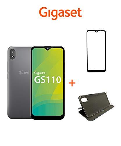 Gigaset GS110 Smartphone ohne Vertrag inkl. Zubehör-Set - Handy 6 Zoll Display, 3000mAh Akku, 5MP+8MP Kamera, 256 GB erweiterbar Dual SIM, Android 9