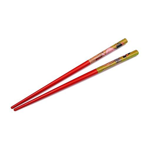 rougecaramel - Accessoires cheveux - Pic cheveux en bois imprimé personnage lot de 2pcs - rouge