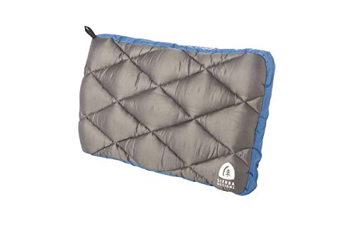 Sierra Designs DriDown Pillow, Versatile 2 Piece System for Camping, Backpacking, and Travel (Blue)
