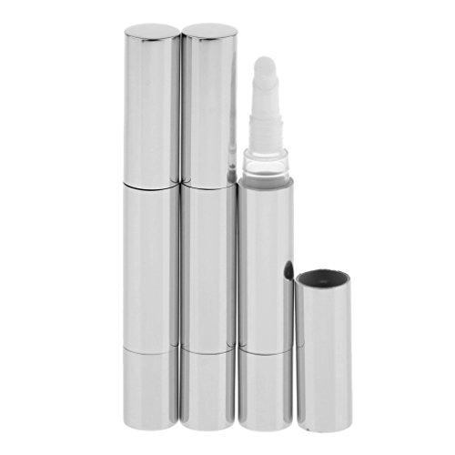 Sharplace 3pcs 5 Ml Stylo à Torsion Tube Vide Rechargeable à Parfum/Huile Essentielle - Argent
