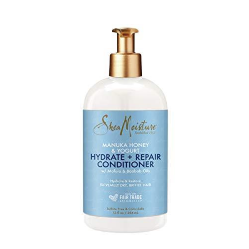 SheaMoisture Hydrate & Repair Moisture Shampoo for Damaged Hair Manuka Honey Moisturizing with Shea Butter 13 oz