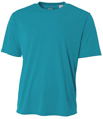Mens Rash Guard Surf Swimwear Swim Shirt SPF Sun Protection Loose Fit Fitting (XXX-Large, Teal)