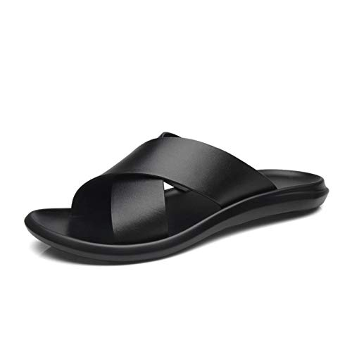 N-B Nuevas Zapatillas de Cuero, cómodas y Transpirables, Informales, Zapatillas de Moda para Hombres, Zapatos de Playa, Zapatillas de Moda para Hombres, Antideslizantes