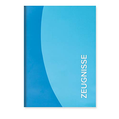 ROTH Zeugnismappe Duo - Blau - mit 12 A4 Klarsichthüllen, Dokumentenecht - Dokumentenmappe