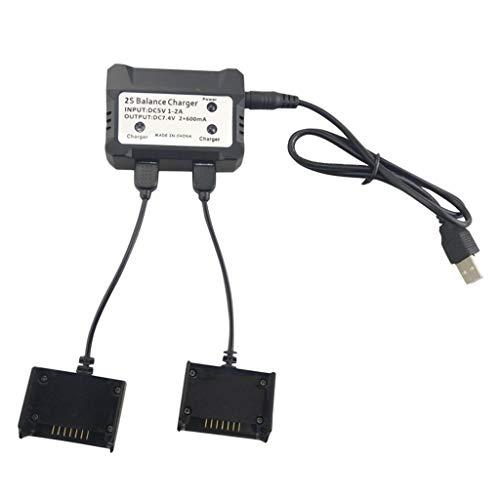 Hellery Caricabatteria Lipo con 2 Pezzi Cavo e Cavo di Alimentazione USB per MJX Bugs 3 PRO (B3 PRO), HS700 RC Drone