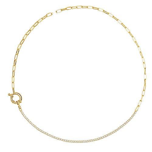 PD Paola 925 Sterling Silveren Daze Mirage Goldkleurige Necklace CO01-082-U