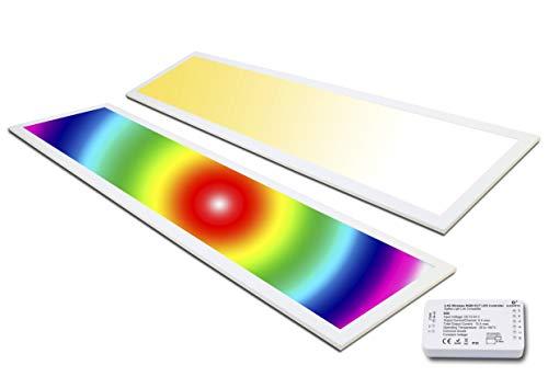 LED Panel Zigbee RGB 120x30 plus WW+CW 36 Watt warmweiß bis kaltweiß dimmbar und alle RGB Farben (1 Panel Set Zigbee)