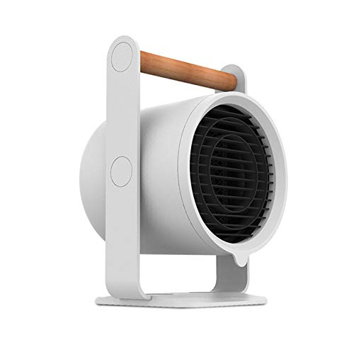 GKJ Mini Calentador de Aire Caliente, PTC Calefacción de Cerámica 900W,Calefactor Portátil Eléctrico Bajo Consumo con Protección contra Sobrecalentamiento,Blanco