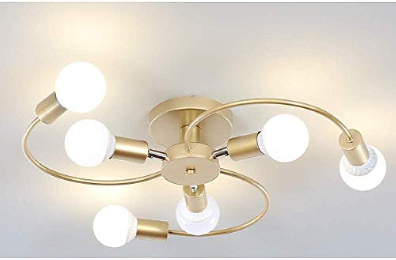 L.HPT Runden Eisen Deckenleuchte Modern Einstellbar Drehbar Arm Deckenlampe Schlafzimmerleuchte Wohnzimmerlampe Küche Esszimmer Kronleuchter Decken Leuchter Wandleuchte, Leuchtmittel enthalten, φ57