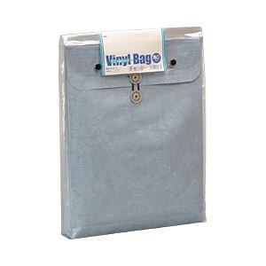 オキナ ビニールバッグ 角形0号 中袋あり ブルー ×10セット