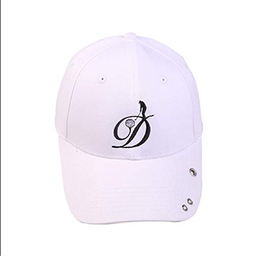 Kappen-Stickerei-Baseballmütze-Männer u. Frauen-Frühlings- / Sommer-Mode-Schatten (Color : White, Size : M)