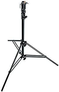 Manfrotto 008BUAC 2 Abschnitte Air Cushioned Aluminum Cine Stand with Leveling Leg (schwarz)