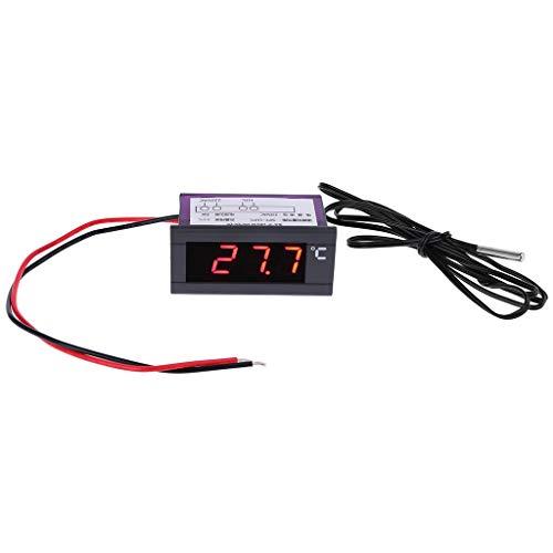 BIlinli Termómetro Digital Integrado Refrigerador Congelador Panel de visualización de Temperatura 220V