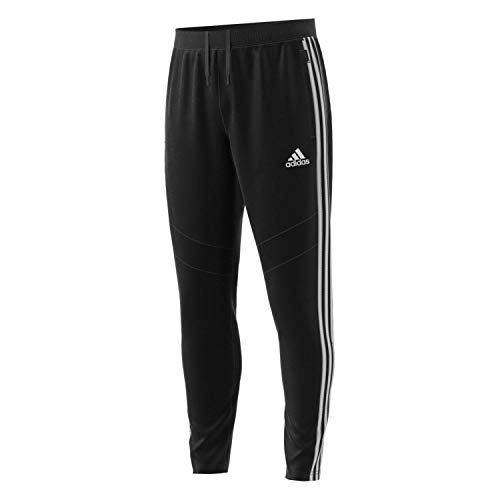 adidas Men's Tiro 19 Training Soccer Pants, Small, Black/White