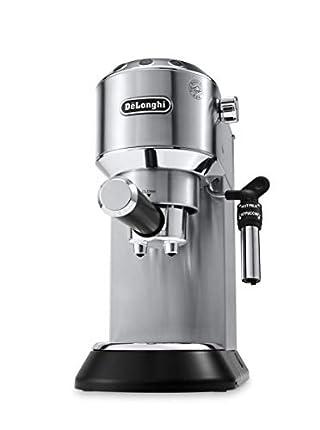 De'longhi Dedica - Cafetera de Bomba de Acero Inoxidable para Café Molido o Monodosis, Cafetera para Espresso y Cappuccino, Depósito de 1.3 Litros, Sistema Anti-goteo, EC685.M, Metal 30x33x15cm