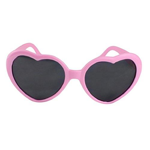Steellwingsf Sonnenbrille für Herren und Damen, modisch, für den Sommer, lustige Liebe, Herzform, Sonnenbrille, Geschenk (Pink)