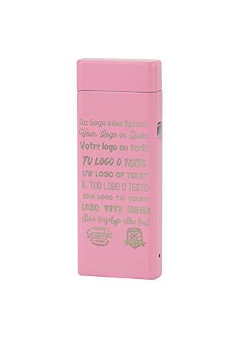 TESLA Lighter T04 elektronisches USB Lichtbogen Feuerzeug inkl. Text-Gravur Pink