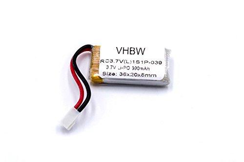 vhbw Li-Polymer Akku 390mAh (3.7V) passend für Modellbau, Drohne X-Dart 6044