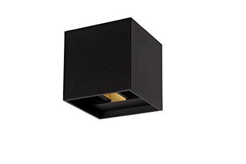 Lucide XIA - Applique Murale - LED - 2x1W 3000K - IP54 - Noir