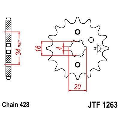F1263 - piñon Ataque transmision Delantero Dientes 14