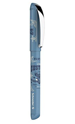 Schneider Schreibgeräte Patronenroller Inx Sportive, M, königsblau, löschbar, hellblau mit Dekorbild
