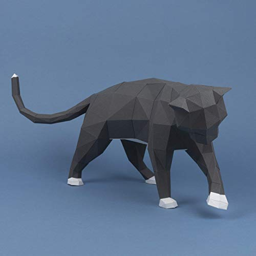 Gato travieso Papercraft kit,Yona DIY Kit de origami 3D para montar a mano, 3D Puzzle para la decoración de hogar,Trofeo de papel, Regalo de papel,Bricolaje en papel, Rompecabezas 3D