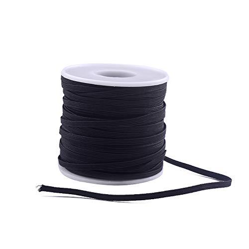 Elastic string for masks1/8 inch, sewing elastic band 50 yards, mask elastic band, 1/8 inch high comfortable skin-friendly elastic band, handmade mask elastic band, making mask DIY sewing crafts