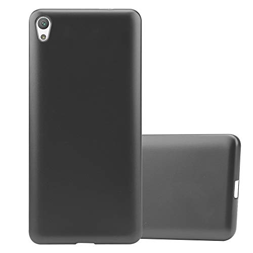 Cadorabo Coque pour Sony Xperia E5 en Metallic Gris - Housse Protection Souple en Silicone TPU avec Anti-Choc et Anti-Rayures - Ultra Slim Fin Gel Case Cover Bumper