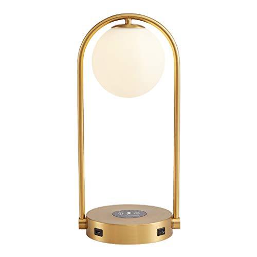Lámparas Moderna lámpara de cabecera tabla con carga inalámbrica Pad y la sala de estar tabla de puertos USB luz de decoración de la oficina lámpara de escritorio - colgando pantalla de vidrio - Bombi
