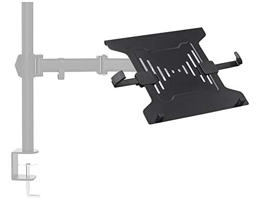 Monoprice Laptop Holder Attachment for LCD Desk Mounts - Black Ideal for Work, Home, Office Laptops - Workstream Collection