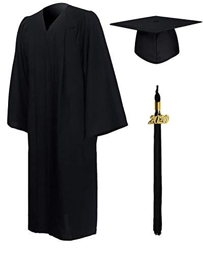 GraduationMall Graduation Cap Mascherino Per Gli Uomini Neri 45Ff (Cm 152-158Cm) Max Chest150Cm