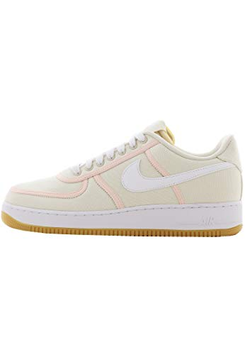 Nike Herren Air Force 1 '07 PRM Basketballschuhe, Mehrfarbig (Light Cream/White/Crimson Tint 000), 40 EU