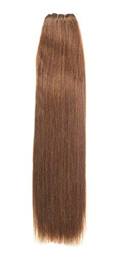 Extensions de cheveux humains tissage soyeux 100 g | 50,8 cm | Brun clair (6)