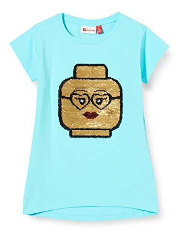 Lego Wear Lwtone Wendepailletten T-Shirt, Blu (Light Blue 510), 134 Bambina