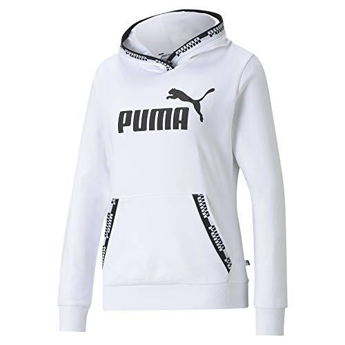 Puma Amplified Hoodie TR Mujer, Sudadera, Puma White, Talla S