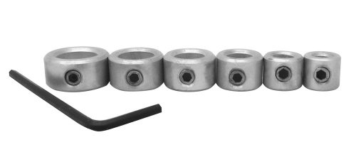 Milescraft 5342 6pc. Drill Stop Set - Includes 3/16, 1/4, 5/16, 3/8, 7/16, and 1/2-Inch