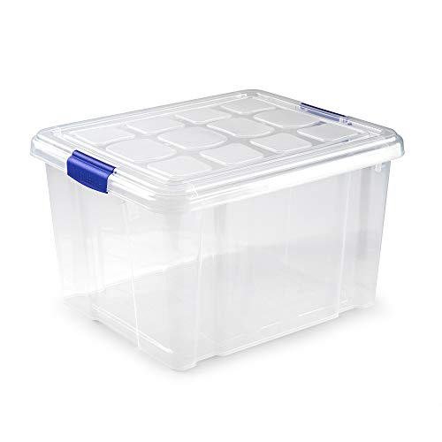 PLASTIC FORTE, Caja de almacenamiento, TRANSPARENTE, 25 Litros, sin ruedas