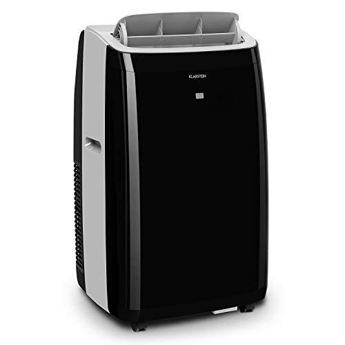 KLARSTEIN Grandbreeze Eco 12K - Climatiseur Mobile, déshumidificateur, Ventilateur, 3 Vitesses, 12000 BTU/1,35 KW, Taille de la pièce: 35 à 59 m², débit d'air 460 m³/h,CEE A+ - Noir