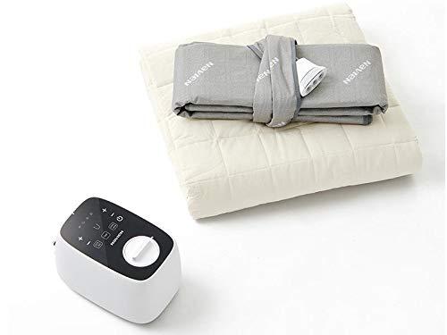 Navien Mate Dual Control Heated Mattress Pad, Non-Electric, Water Powered, Bed Warming Mattress Topper - EQM 350 (Queen)