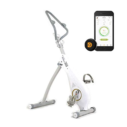 WGFGXQ Bicicleta estática Plegable para el hogar Femenina, Entrenador de Bicicleta de Fitness, Equipo Deportivo, Entrenador de Cardio Ideal, Pantalla LCD, Diferentes Niveles de Resistencia, Apto pa