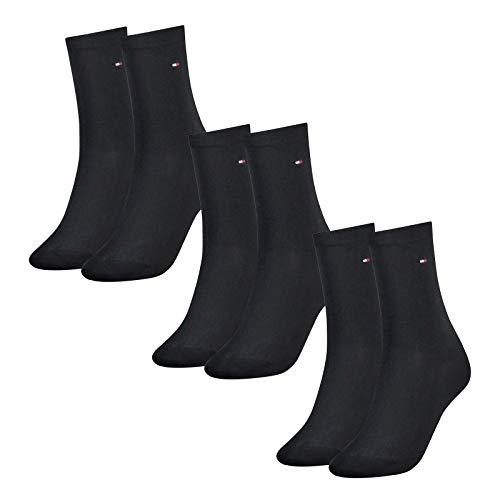 Tommy Hilfiger Damen Socken, Classic, Strümpfe, 6er Pack (Dunkelblau, 35-38 (6 Paar))