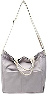 TOOGOO Casual Canvas Bag Female Shoulder Bag College Wind Ins Big Bag Simple Canvas Bag Japanese Messenger Bag Blue