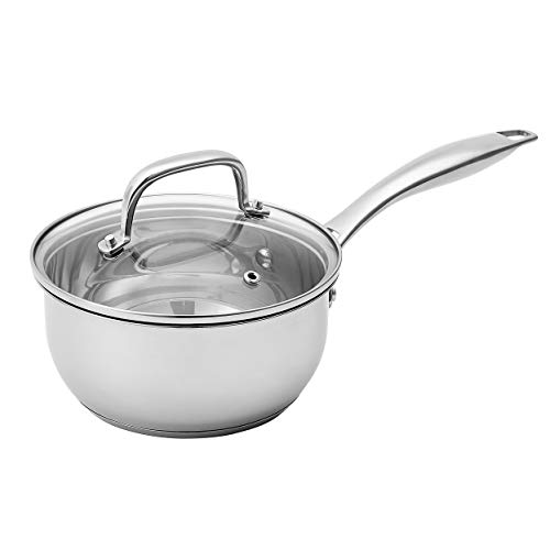 Amazon Basics Stainless Steel Sauce Pan with Lid 15Quart