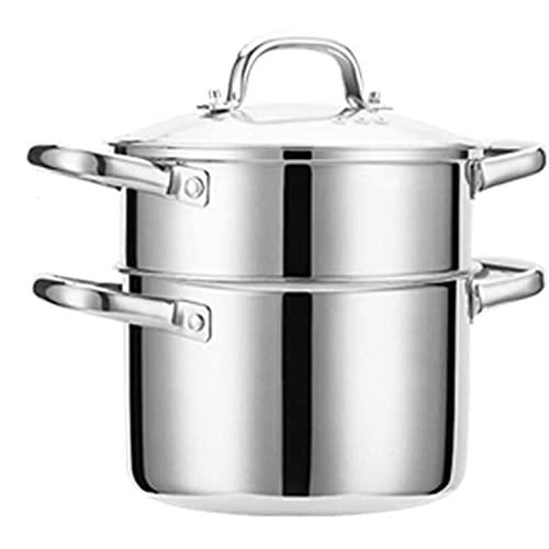 HHTD Acero Inoxidable de Acero Inoxidable Mini pequeño Gas Espesado pequeño Sopa de Sopa vaporizador: Cocina casa