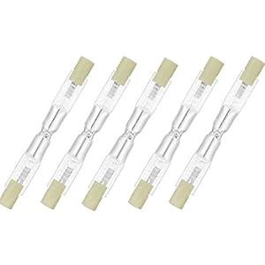 Osram 64695 ECO - Confezione da 5 lampadine alogene a risparmio energetico, a forma allungata, 120 W, 230 V, R7s, 74,9 mm