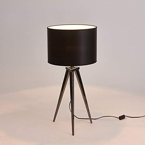Lámpara de escritorio LED Lámpara moderna moderna de sobremesa con tres patas, lámpara de mesa, atenuación, estilo europeo, sin radiación lámpara de escritorio flexible del LED ( Color : Black )