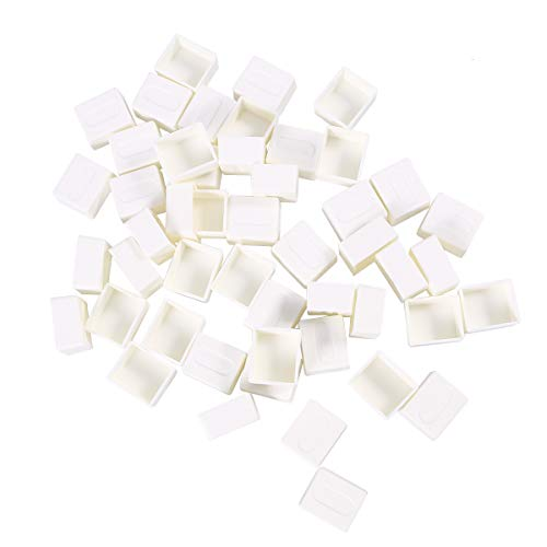 rosenice 50pcs Aquarell-Farben-Pan-Plastikleere Aquarell-halbe Wannen für das Malen
